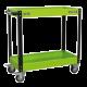 Workshop Trolley 2-Level Heavy-Duty - Hi-Vis Green