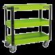 Workshop Trolley 3-Level Heavy-Duty - Hi-Vis Green