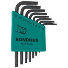 Bondhus TLXS8S 8pc Torx L Key Set Short