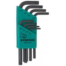 Bondhus TLXS8 8pc Torx L Key Set Short