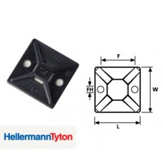 Hellerman MB4A Cable Tie Bases Black