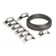 Sealey JC972 - Hose Clamp Set Self-Build 12.7mm Bandwidth